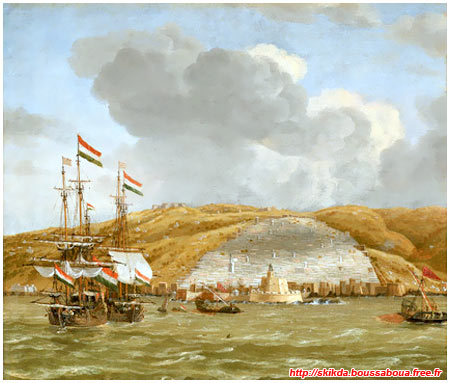 Navires de commerce hollandais quittant Alger - 1650 (Reinier Nooms)